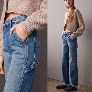 MOTHER Ultra High-Rise Straight Utility Jeans